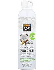 365 Everyday Value, Clear Spray Sunscreen, Coconut Vanilla, SPF 30, 6 fl oz