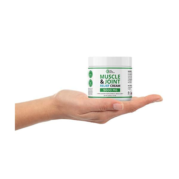 Hemp Muscle & Joint Relief Cream 5000MG | Natural Hemp Extract with MSM, Arnica & Menthol | Highest Strength Hemp Oil Formulation | Soothe Back, Neck, Feet, Knees, Shoulders etc. | Huge 8.5 Ounce Jar