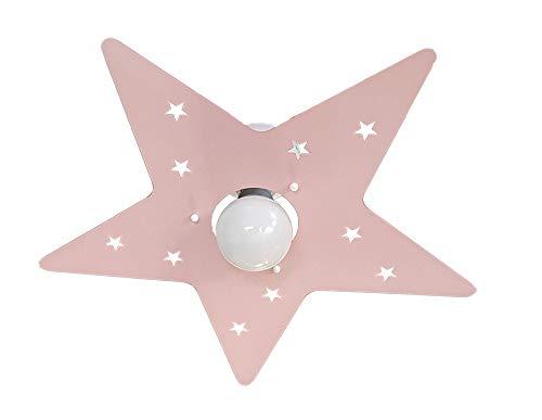 Plafoniere Per Stanzette : Plafoniera stella rosa per camerette stanzette bambini amazon