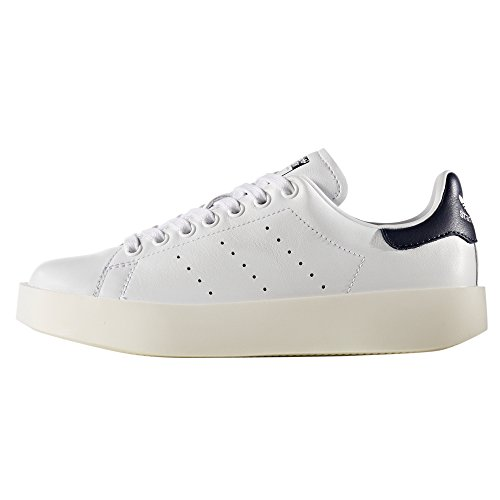 Adidas Originals Damen Stan Smith Vet Platform Lederen Trainer Zake Wit / Collegiale Navy