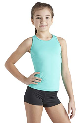 Liakada Girls Basic Tank Top - Dance, Gym, Yoga, Cheer! Turquoise (Girls In Short Shorts And Tank Tops)