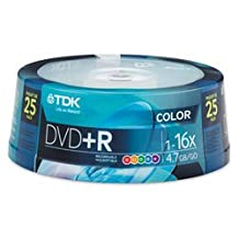 TDK DVD+R Color 25 pack Spindle