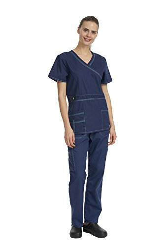 Denice Women's Scrub Sets / Utility Trim / Multiple Pockets / Medical Scrubs 1056 (X-Large, (Halloween Scrubs)