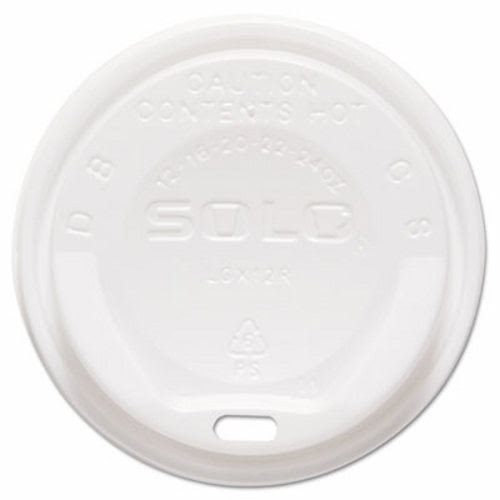 SOLO Cup Company The Gourmet Lid Hot Cup Lids for Trophy Plus SCC LGXW2