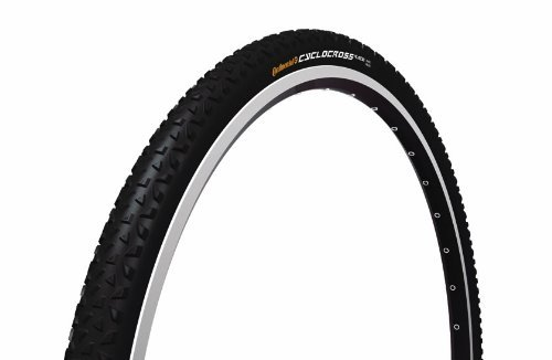 Continental Cross Cyclocross Race Bicycle Tyres black-black skin Size:700 x 35C by Continental by Continental