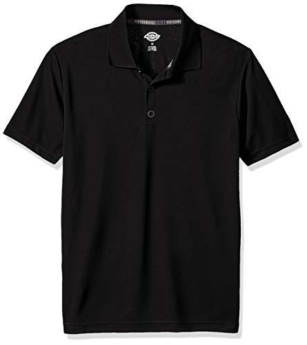 dickies Men's Performance Polo, Black, M (Tt Polyester Label)