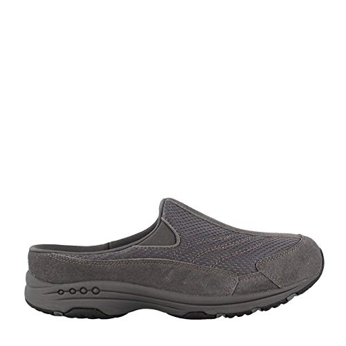 Womens Size Shoes Large - Easy Spirit Women's TRAVELTIME160 Shoe Clog, Medium Gray Suede, 9.5 N US