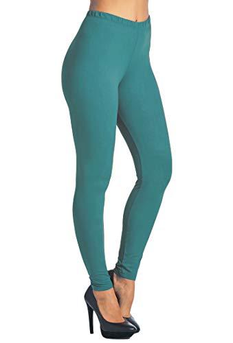 Leggings Mania Women's Solid Color Full Length High Waist Leggings Dark ()