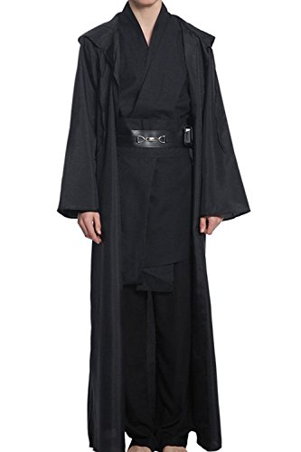YANGGO Party Robe Costume Halloween Tunic Outfit US Size (Men Large, Black) - Man Party Costumes