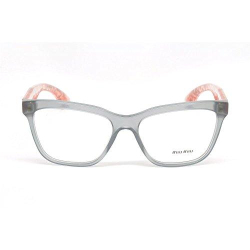 28ce3a200e7c Miu Miu MU 07NV TKY1O1 Opal Grey Plastic Soft Cat Eye Eyeglasses 55mm - Buy  Online in UAE.