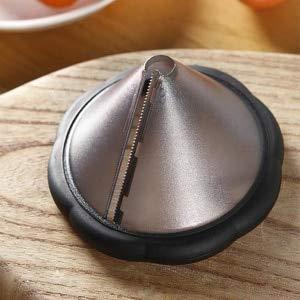 Spiral Cutter Creative potato carrot spiral cutter funnel shape vegetable fruit cut flower carving tool kitchen gadgets (Gray)