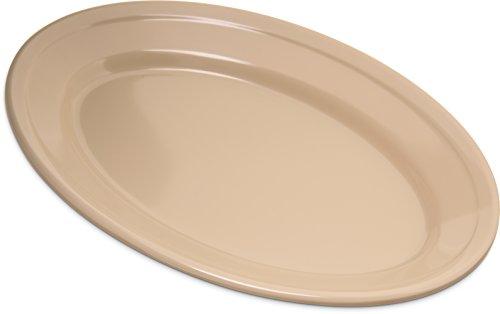 Carlisle 4356325 Dallas Ware Melamine Oval Platter Tray, 9.25