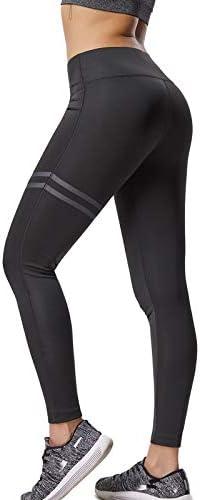 FITTOO Pantalones Deportivos Leggings Mujer Yoga de Alta Cintura Elásticos y Transpirables para Running Fitness Yoga con Gran Elásticos 3