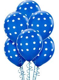 Party Balloons Polka dots Balloons Latex, 12 inch Round,100 Count Pack for Decoration,Events Celebration and Happy Birthday Partys ()