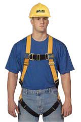 Size Titan T-Flex™ Stretchable Polyester Full Body Harness With Back And Side D-Rings, Matting Should Strap & Chest Buckles, Tongue Buckle Leg Straps And Sub-Pelvic Strap (Titan Spray Flex)