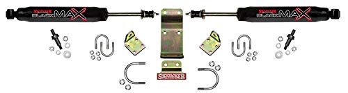 Skyjacker 8203 Dual Stabilizer Kit (Includes Steering Dampers Mounting Brackets for Jeep Wrangler JK-Black) ()