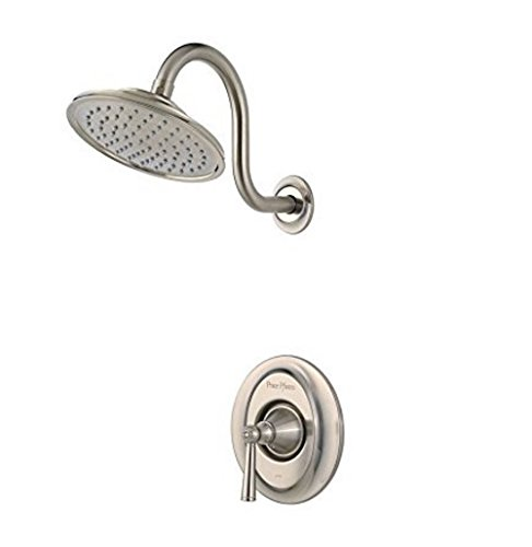 Pfister LG897GLK G89-7GLK Saxton 1-Handle Shower Only Trim in Brushed Nickel, 2.0gpm