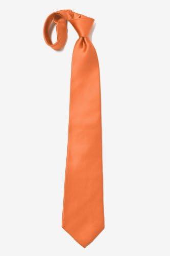 Elite Solid Extra larga corbata seda - Anaranjado -: Amazon.es ...