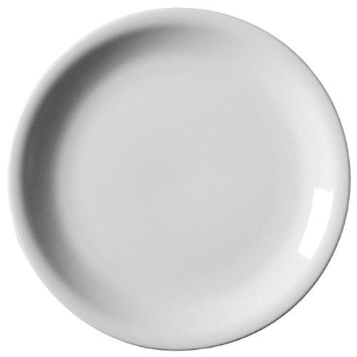 Royal Genware Narrow Rim Plates 16cm - Pack of 6 | 6.25inch Dinner Plates  sc 1 st  Amazon UK & White Narrow Rimmed Plates Crockery Dinner Set - 25cm 10