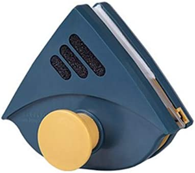 QIANZICAI ガラス洗浄装置、磁気クリーニングガラス機器、二層断熱ガラスのクリーニングツール、スタイリッシュなデザイン、4〜25ミリメートル厚い(グレー) 安全ロープとの強力な磁場 (Color : Blue)