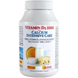 Vitamin D3 1000 Plus Calcium Intensive Care 250 Capsules by Andrew Lessman