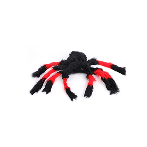 AODEW Halloween Spider Toys Fake Spider Practical Jokes Props Realistic Rubber Spider for Prank Halloween Party Scary Decoration