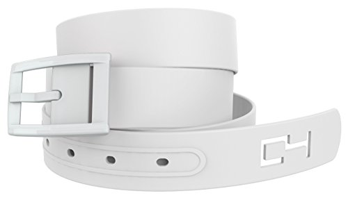 White Golf Belt with White Buckle - Adjustable for waist size up to 44 inch, hypoallergenic - by C4 Belts
