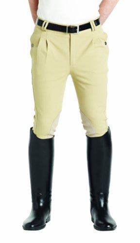 Matchmakers Caldene Gloucester Culotte d'équitation pour homme Coupe longue Beige Beige 101,6 cm ()