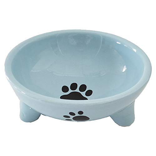 Pet Feeding & Watering Supplies Ceramics Bowls for Cats,Puppy (Three-Legged)
