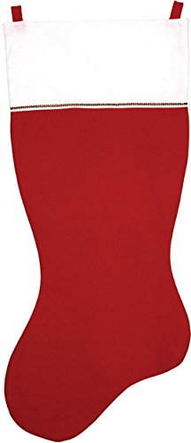 5 FT Jumbo Red Felt Giant Christmas (Red And White Christmas Stocking)