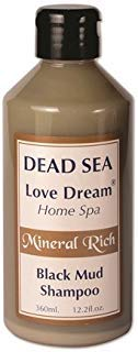 Ein Gedi Black Mud Shampoo - Dead Sea Mineral Mud and Vitamin E 360ml 12.2 fl - Sea Gedi Ein Dead