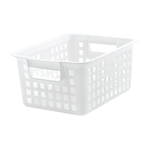 Medium Plastic Storage Basket 8 Pack White  sc 1 st  Amazon.com & Storage Container for Teachers: Amazon.com