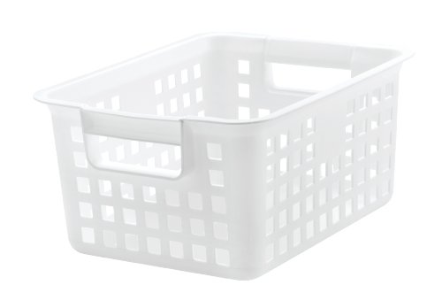 Medium Plastic Storage Basket White