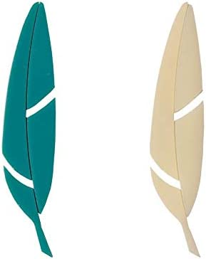Teal and Ivory Fusible Feathers Pre-Cut 2 Pack 96 Coe