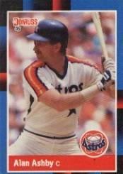 Amazoncom 1988 Donruss Baseball Card 163 Alan Ashby Near