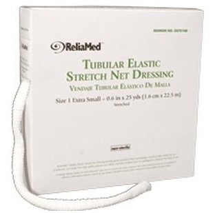 ZG701NB - ReliaMed Tubular Elastic Stretch Net Dressing, X-Small 5-3/8 x 25 yds. (Finger, Toe and Wrist)