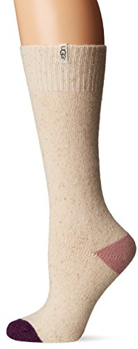 Ugg Boots Socks (UGG Women's Color Blocked Boot Sock, Powder, O/S)