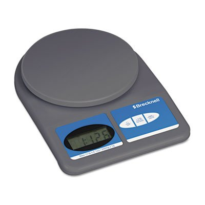 (Brecknell - Electronic Weight-Only Utility Scale, 11lb Capacity, 5-3/4 Platform - Sold As 1 Each - Simple weight-only elecronic scale which is perfect for letter and small parcel mail.)