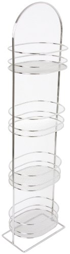 Taymor Chrome Four Tier Mesh Spa Tower with Oval Baskets