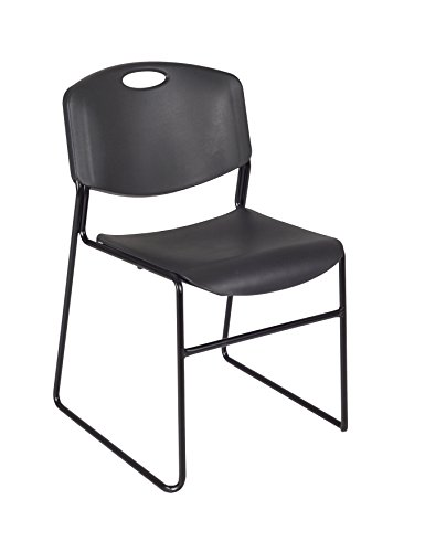 Regency Zeng Stack Chair, Black by Regency