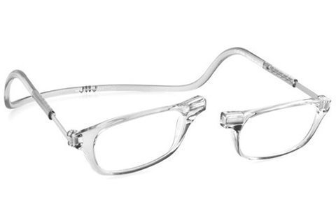 Clic Magnetic Reading Glasses in Clear ; +1.25