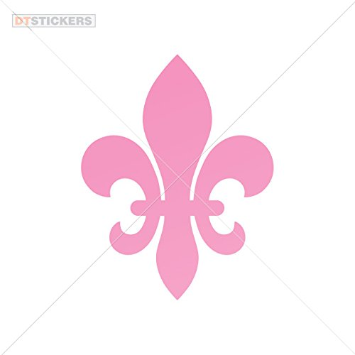 Decal Vinyl Fleur De Lis Royalty Siz Car window jet ski (8 X 6,27 In. ) Pink -