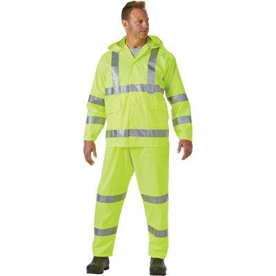 West Chester Protective Gear Hi-Vis Class 3 Rain Suit with 3M Scotchlite Reflective Material - Green, XL, Model# 44033/L by West Chester Protective Gear