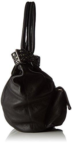 IKKS Fisherboy Rock - borsetta Donna, Noir, 13x33x47 cm (W x H L)