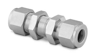 Swagelok SS-810-61 Bulkhead Union, 1/2 in. Tube : OD Compression, 316 Stainless