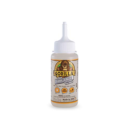 Gorilla Clear Glue, 3.75 ounce Bottle, Clear (Pack of 1) ()