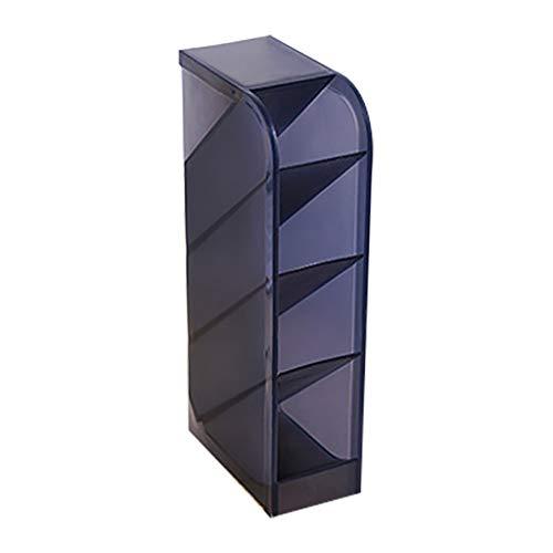 KNDDYY Multifunction Four Grid Desktop Debris Storage Organizer Box for Office,Stationery Pen, Socks, Make up Tools (Black)