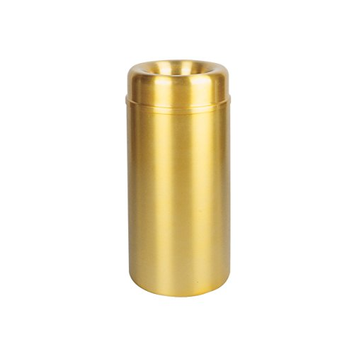 (Rubbermaid Commercial Products Crowne Collection Refuse Container with Open Top (15-Gallon, Brass))