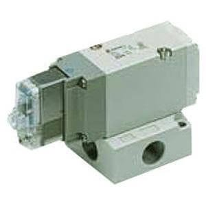 SMC VP544-5DZ1-A - Air Control Valve - Body Ported (Side), 1 Solenoids, Number of Positions 2, DIN Terminal, Non-Locking Push, Normally Closed