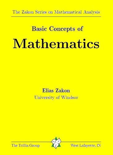 Large book cover: Basic Concepts of Mathematics